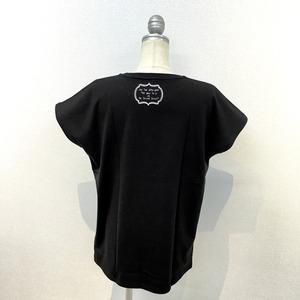 「オールゲイズ二丁目のユウジ」レディースTシャツ(黒) (3)