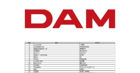 DAM平成カラオケランキングにゴールデンボンバー「女々しくて」ランクイン!